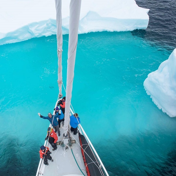 Guests on the australis sailing to Antarctica