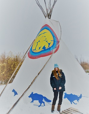 A teepee at Wapusk Adventures, a dogsledding company in Churchill, Manitoba.