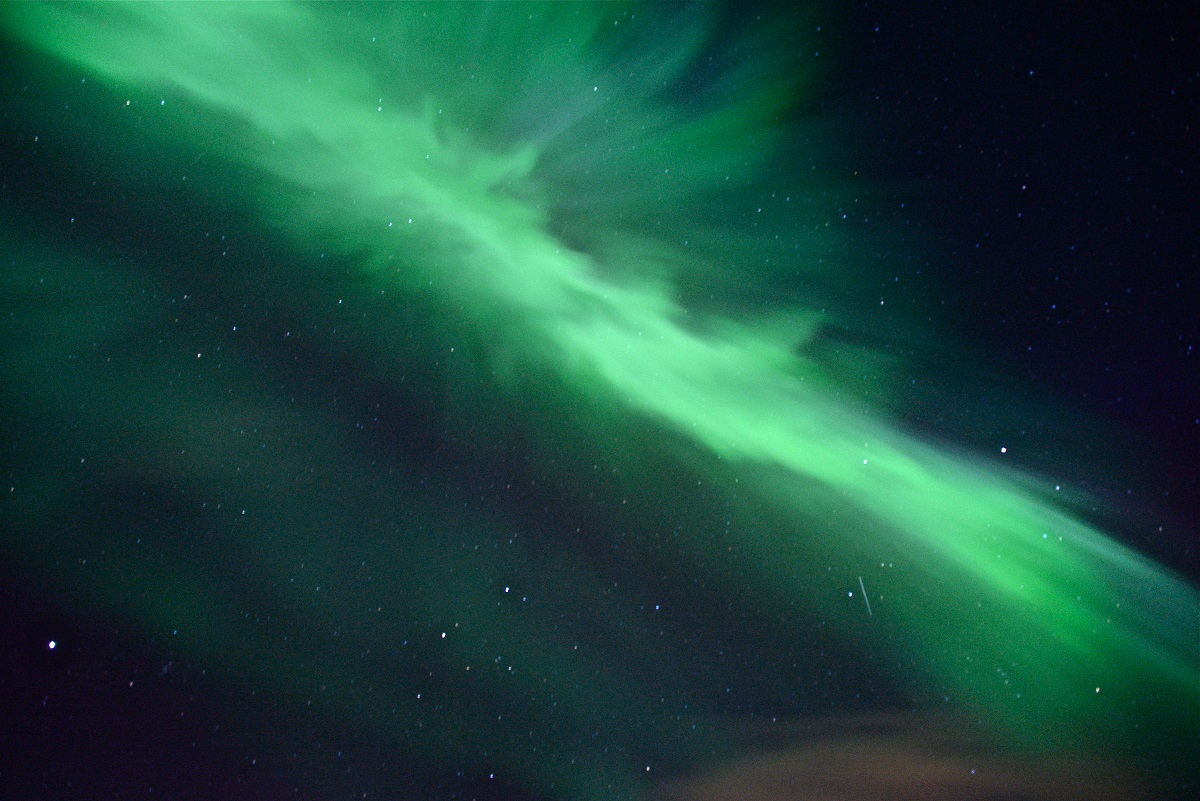 The northern lights in Churchill, Canada.