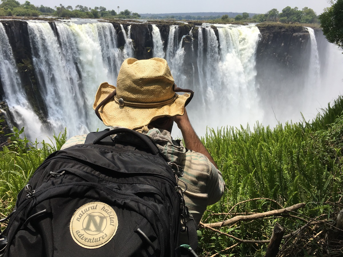 Nat Hab traveler photographs Victoria Falls in Zimbabwe.