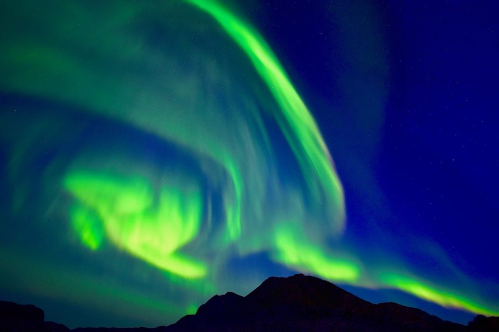 Northern lights in Greenland.