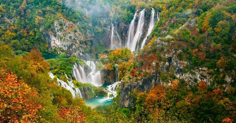 Waterfall in Croatia.