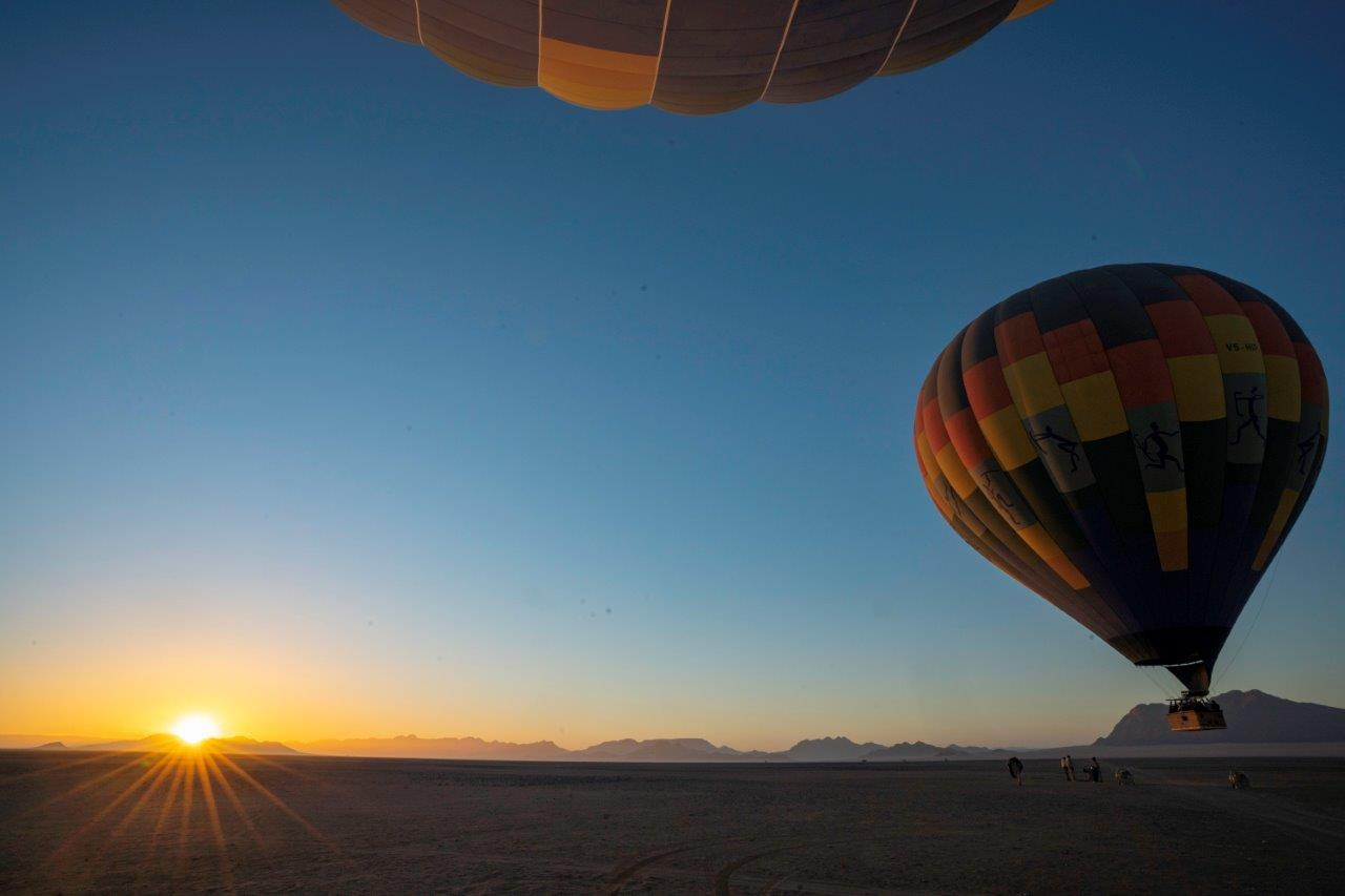Hot air ballooning in Namibia