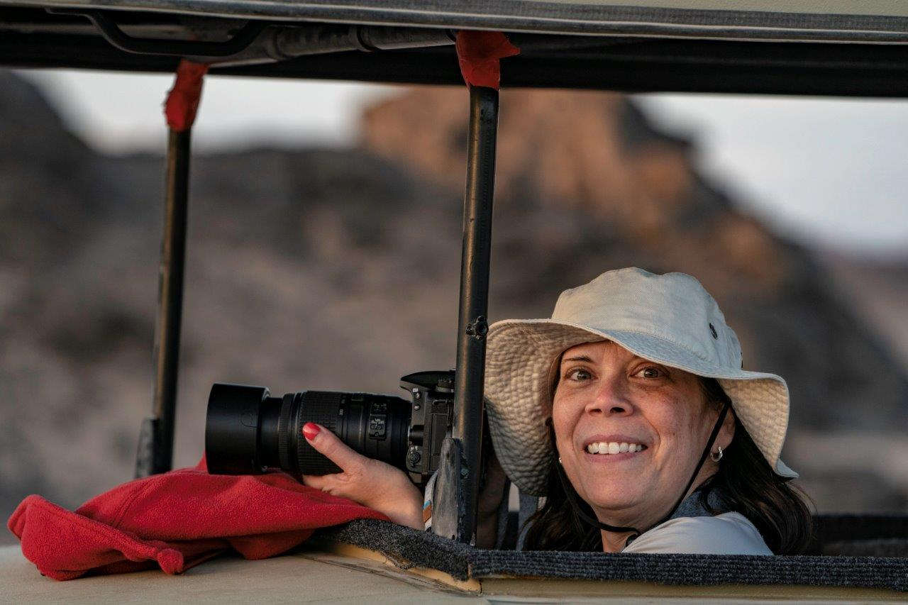 Photographer in Namibia