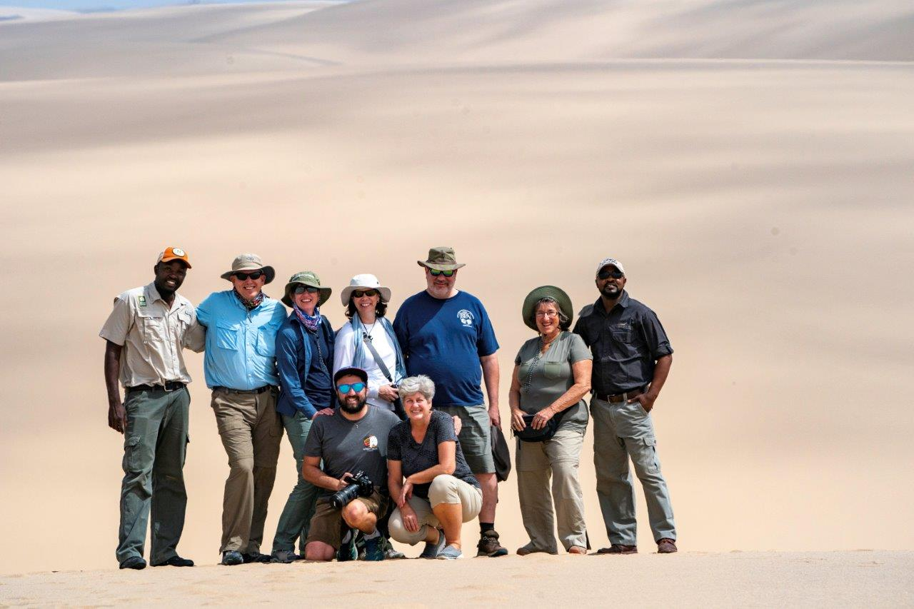 Nat Hab travelers in Namibia
