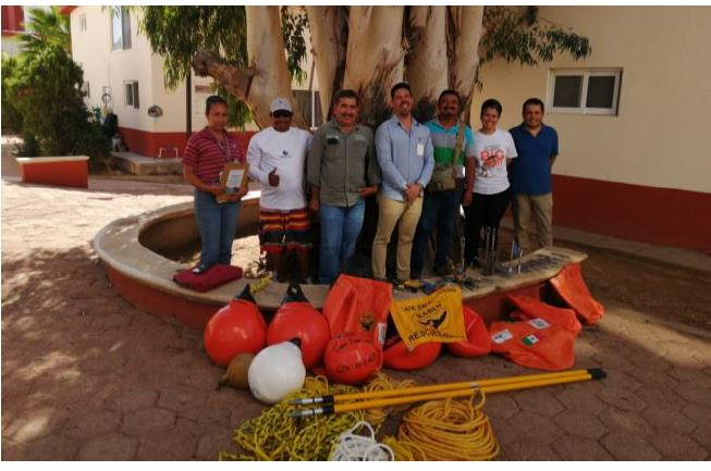 The RABEN team in Los Cabos after receiving their new equipment.