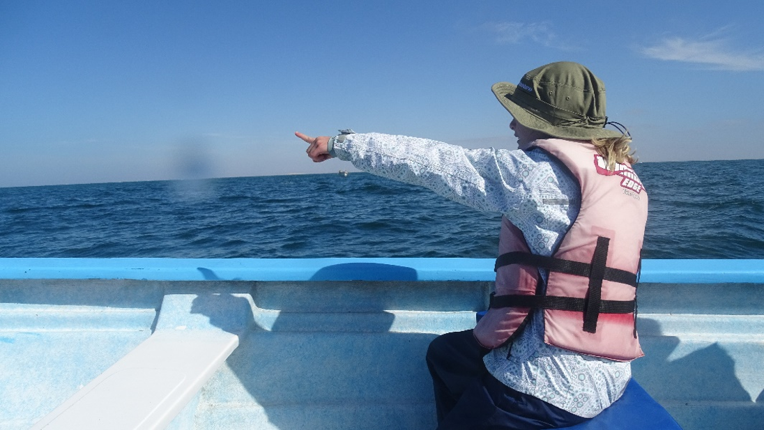 My 10-year-old daughter on the Great Gray Whales of Baja trip