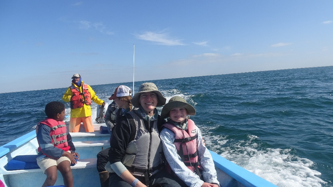 My 10-year-old daughter and I on the Great Gray Whales of Baja trip.