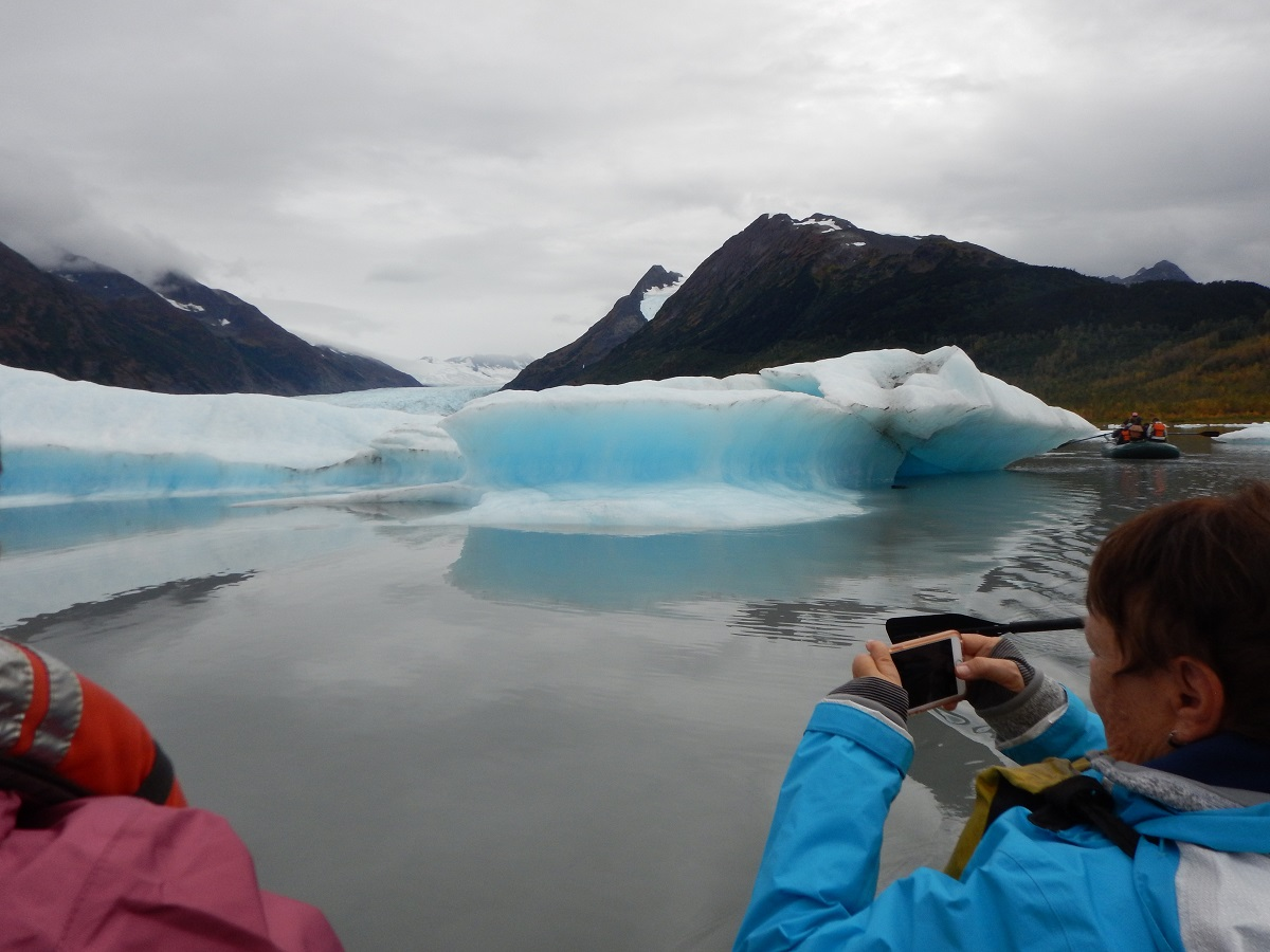 Nat Hab travelers photograph glaciers in Alaska.