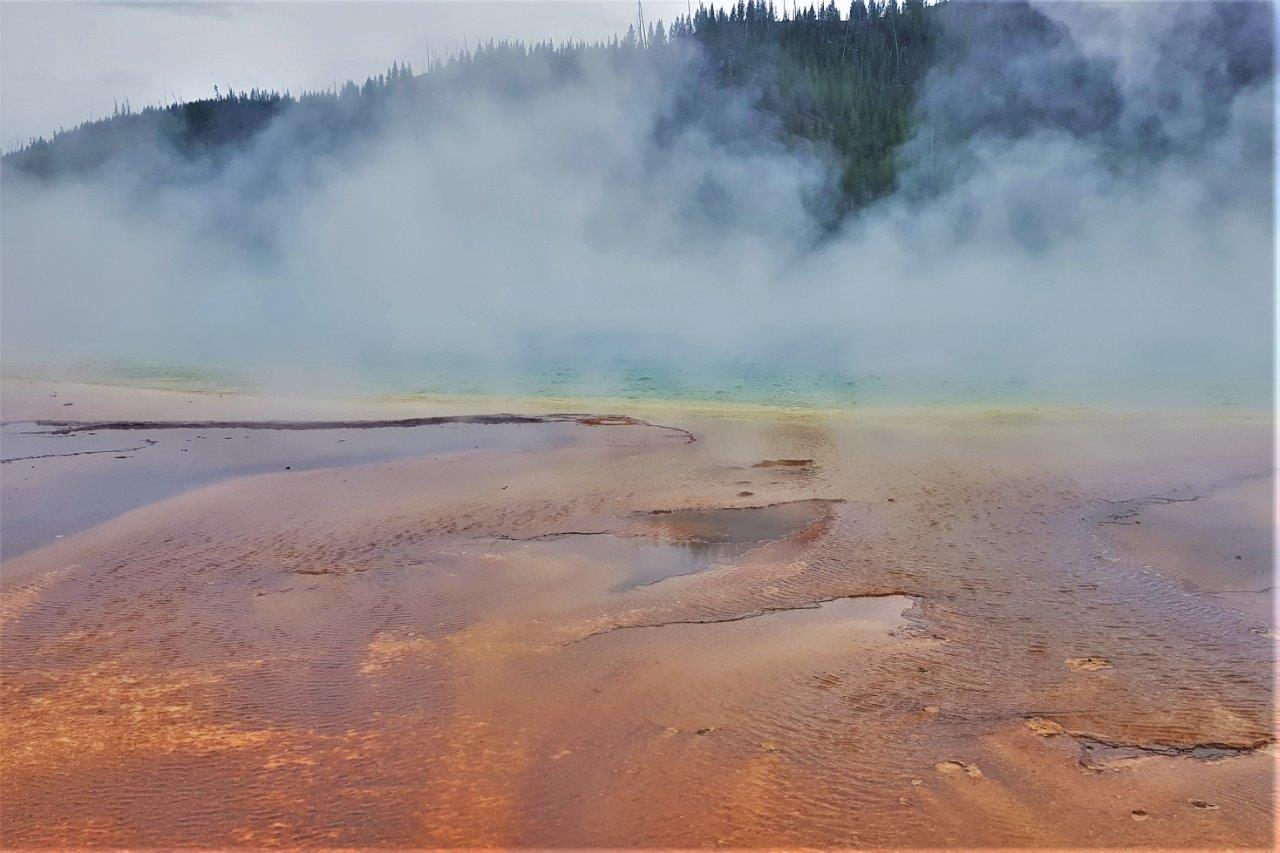 Grand Prismatic Pools in Yellowstone.