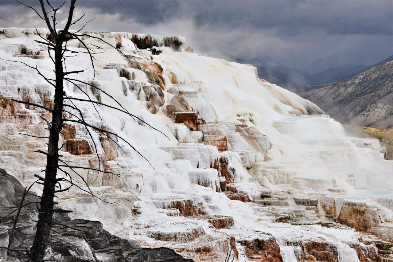 Mammoth Springs in Yellowstone.