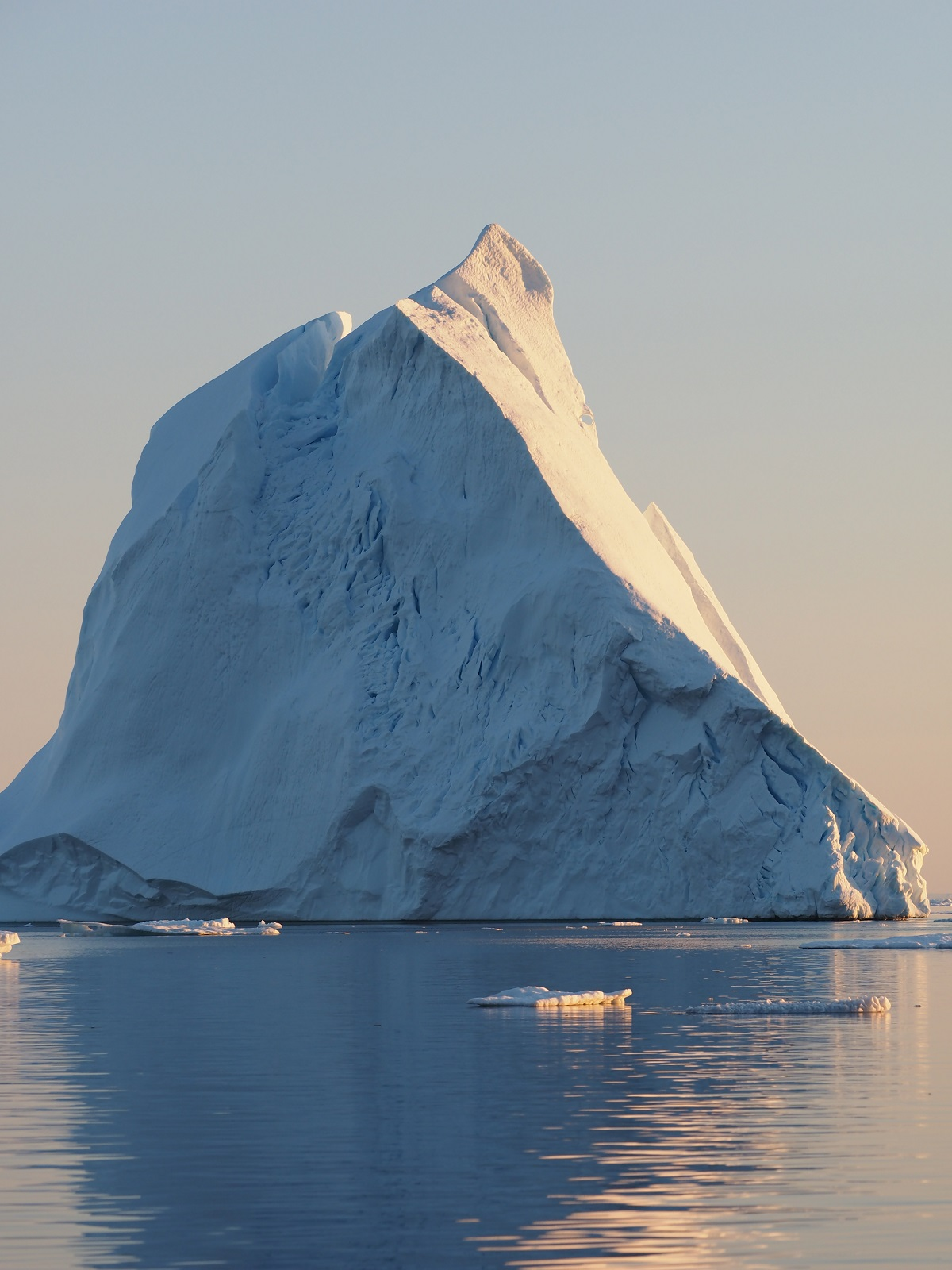 A towering iceberg in Greenland.