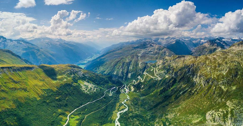 Switzerland's valleys and mountains.